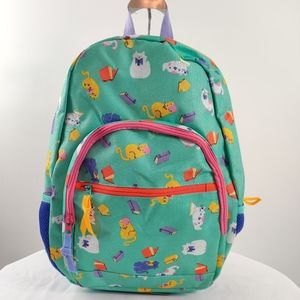Target Reading cats printed backpack NWOT